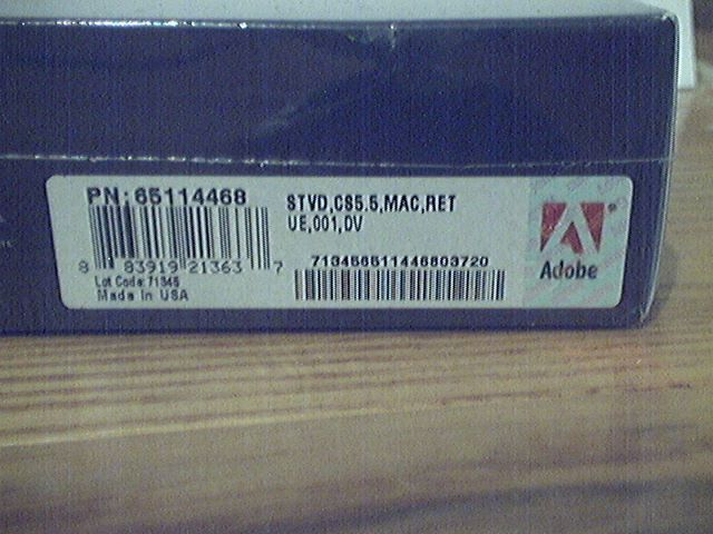 Adobe Creative Suite 5.5 Production Premium CS5.5 MAC 65114468 Retail box